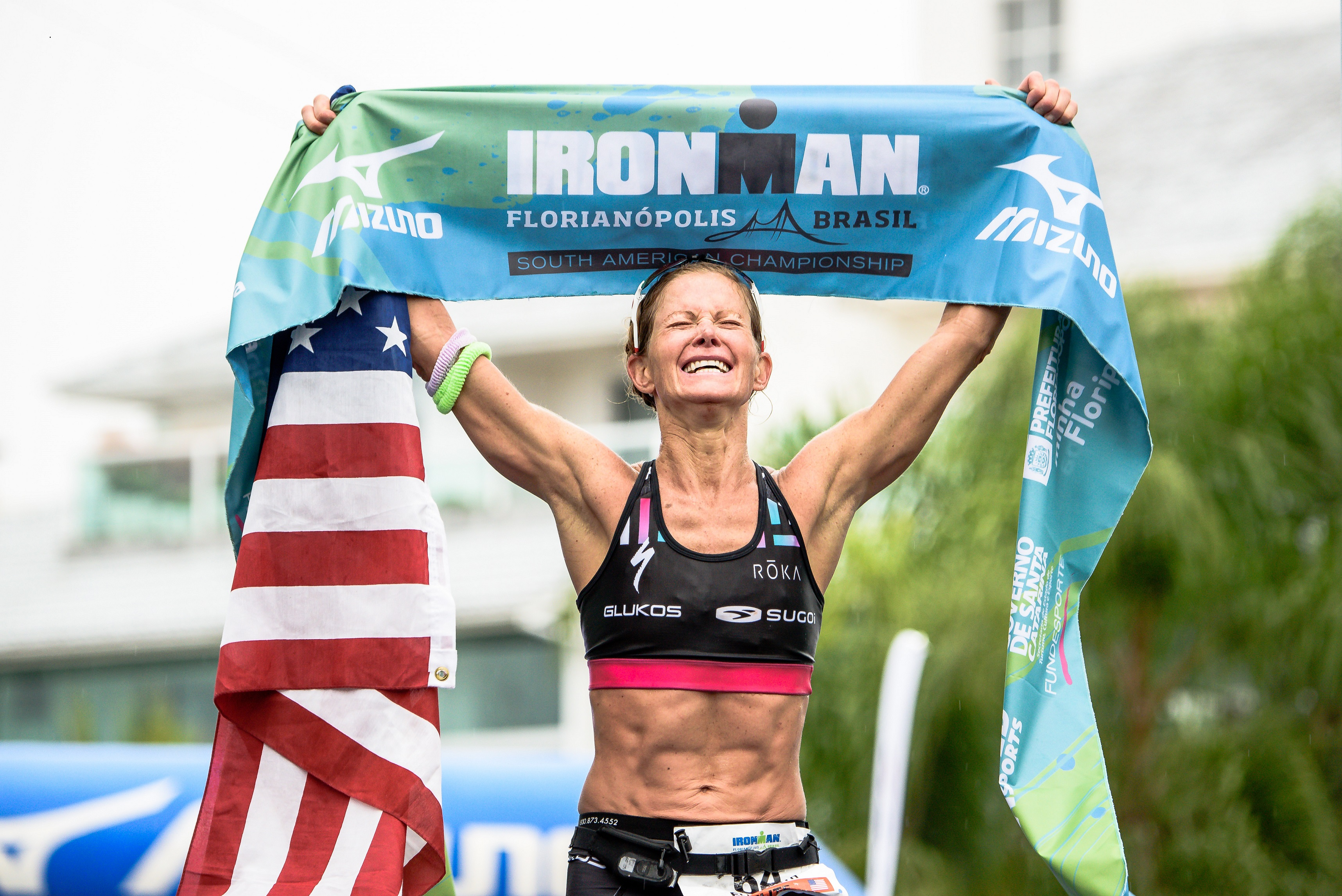 Pro Triathlete Liz Lyles Wins IRONMAN Florianopolis, the South American Championships in Brazil, setting a new course record; Kona ready.