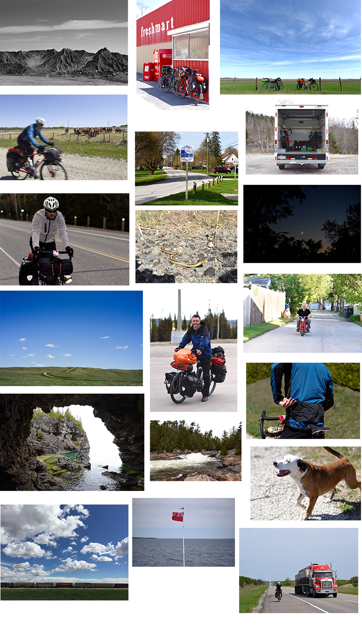 Mike Heslin and Eric Forsyth's ride across Canada, via @outforapedal
